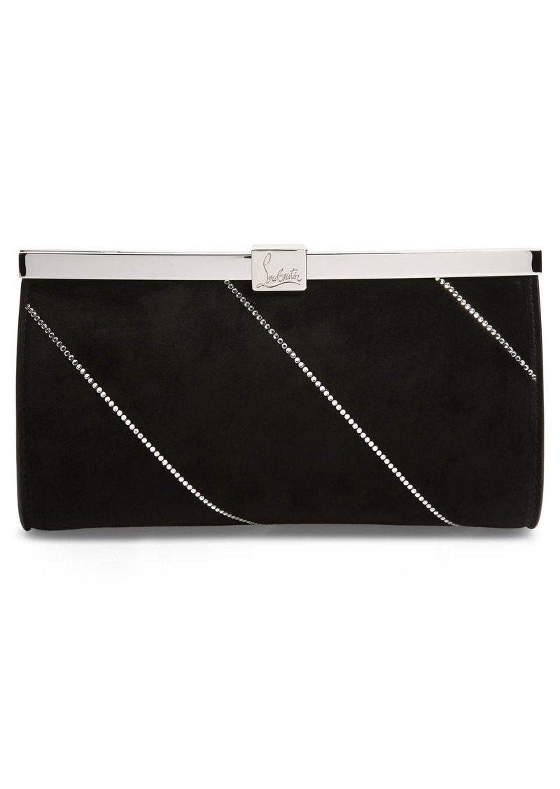 Christian Louboutin Small Palmette Embellished Clutch