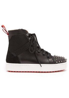 Christian Louboutin Smartic spike high-top leather trainers
