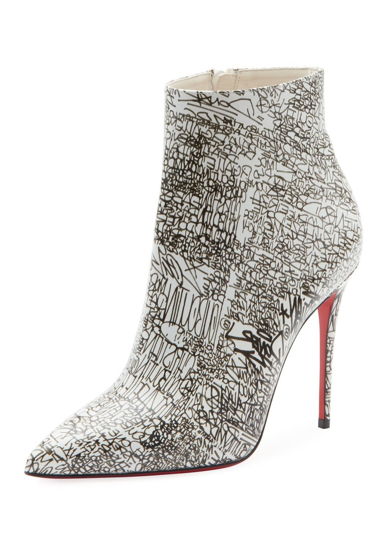 new arrival 49267 d4265 So Kate 100 Calf Caligraf Red Sole Booties
