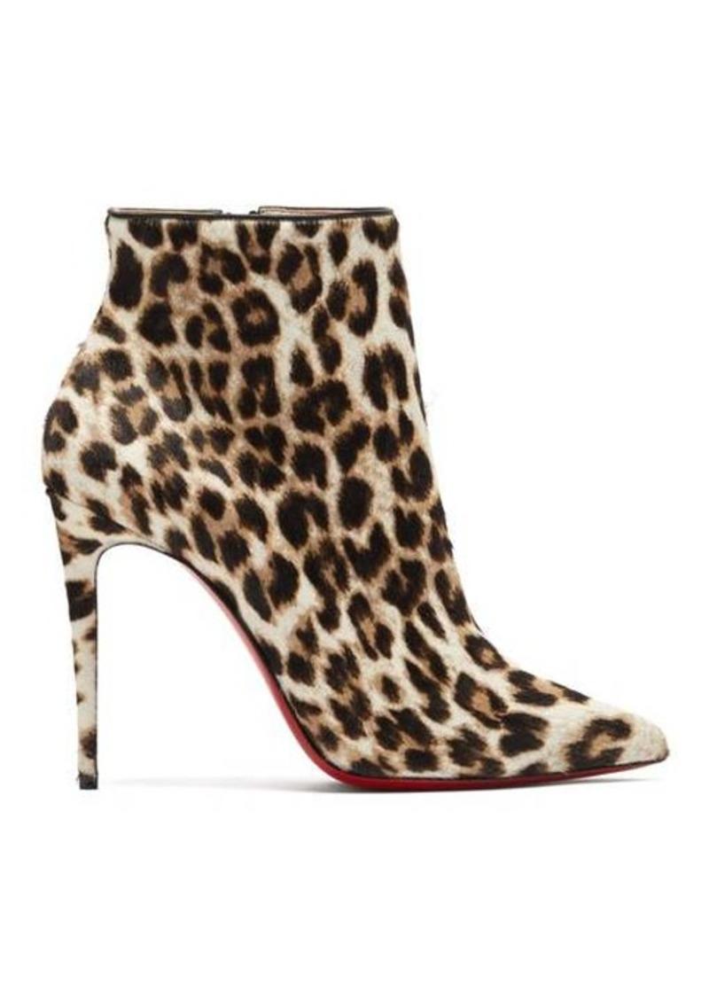 Christian Louboutin So Kate Booty 100 leopard-print calf-hair boots