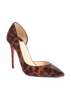Christian Louboutin So Kate Genuine Calf Hair Half d'Orsay Pump (Women)