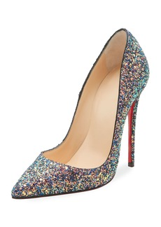 Christian Louboutin So Kate Glittered 120mm Red Sole Pump