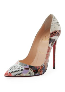 Christian Louboutin So Kate Printed Patent Red Sole Pump