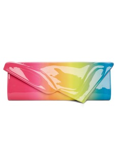 Christian Louboutin So Kate Rainbow Ombré Patent Leather Clutch