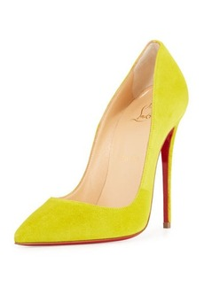 Christian Louboutin So Kate Suede 120mm Red Sole Pump