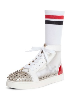 Christian Louboutin Sosoxy Spikes High Top Sneaker (Men)