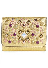 Christian Louboutin Spiked Leather French Wallet
