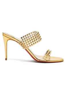Christian Louboutin Spikes Only 85 mirrored-leather sandals