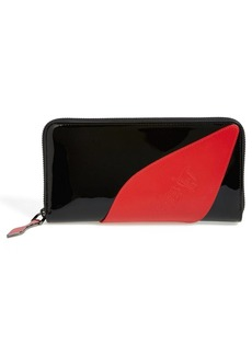 Christian Louboutin 'Suolita' Red Sole Patent Leather Wallet