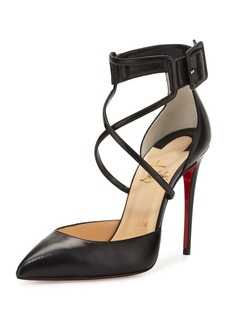 Christian Louboutin Suzanna Leather Crisscross Red Sole Pump