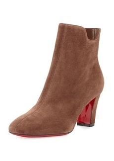 Christian Louboutin Tiagadaboot Suede 70mm Red Sole Bootie