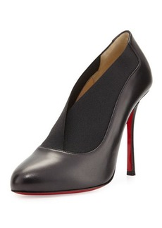 Christian Louboutin Toot Couverte Leather 100mm Red Sole Bootie