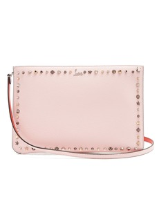 Christian Louboutin Trashmix spike-embellished leather clutch
