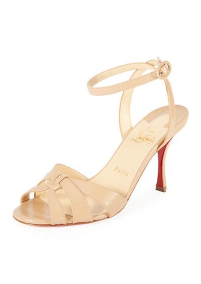 the latest adf79 08835 Trezuma 85mm Leather Red Sole Sandal