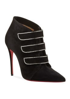 Christian Louboutin Triniboot Suede Red Sole Booties