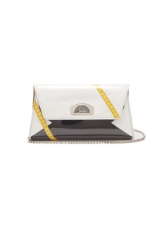 Christian Louboutin Vero Dodat leather and PVC clutch