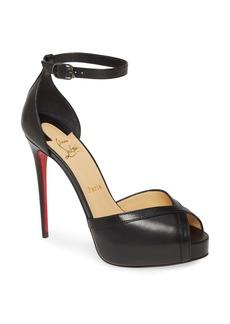 Christian Louboutin Very Cathy Ankle Strap Peep Toe Pump (Women)