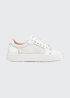Christian Louboutin Vieirissima Perforated Low-Top Red Sole Sneakers