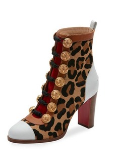 Christian Louboutin Who Dances Button 85mm Red Sole Bootie