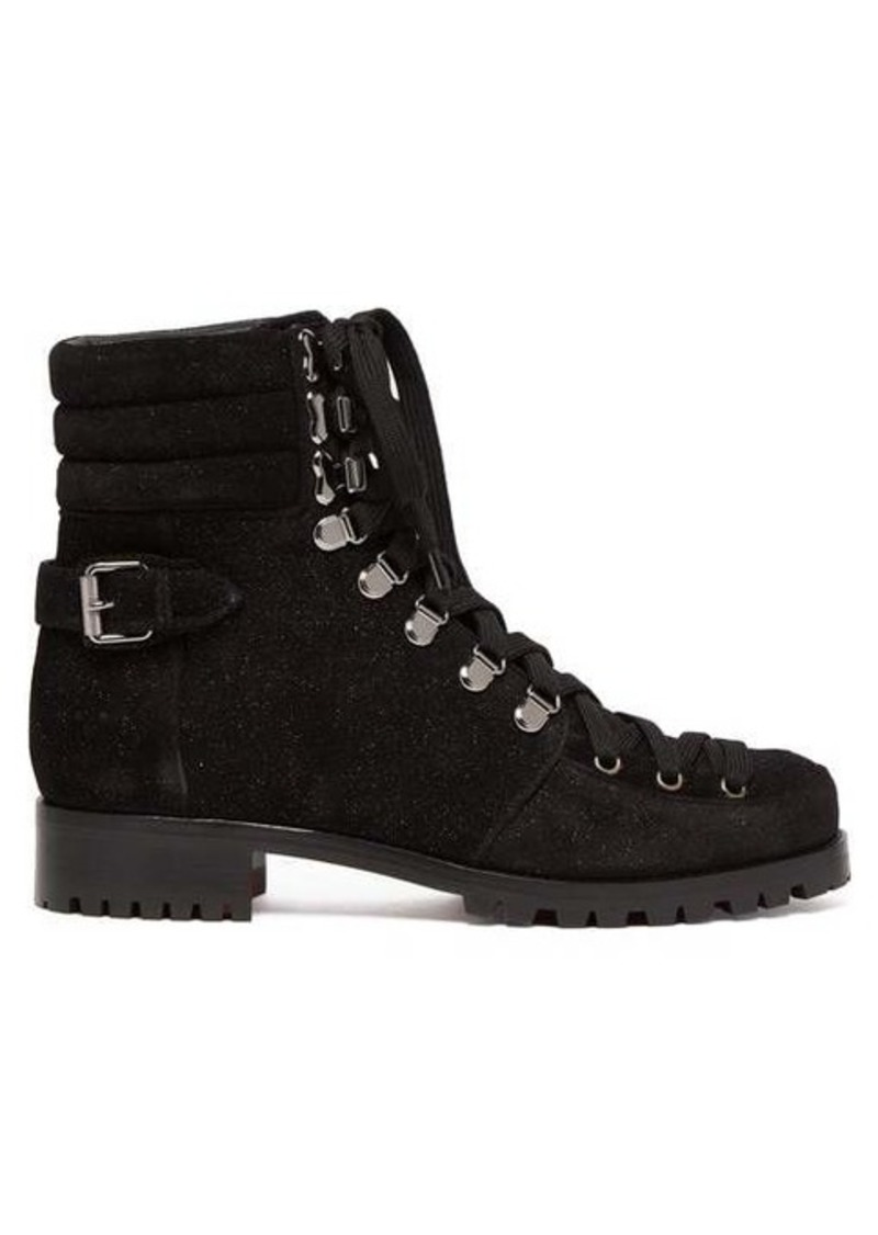 best website 6c1c9 cf5bd Who Runs glitter suede hiking boots