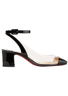 Christian Louboutin Woman Asticocotte 55 Patent-leather And Pvc Pumps Black
