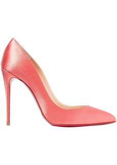 Christian Louboutin Woman Pigalle Follies 100 Satin Pumps Pink