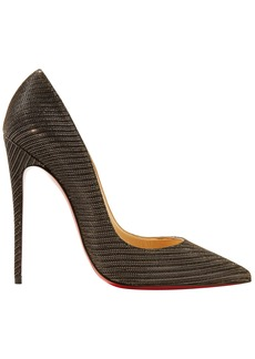 Christian Louboutin Woman So Kate 120 Metallic Woven Pumps Gold