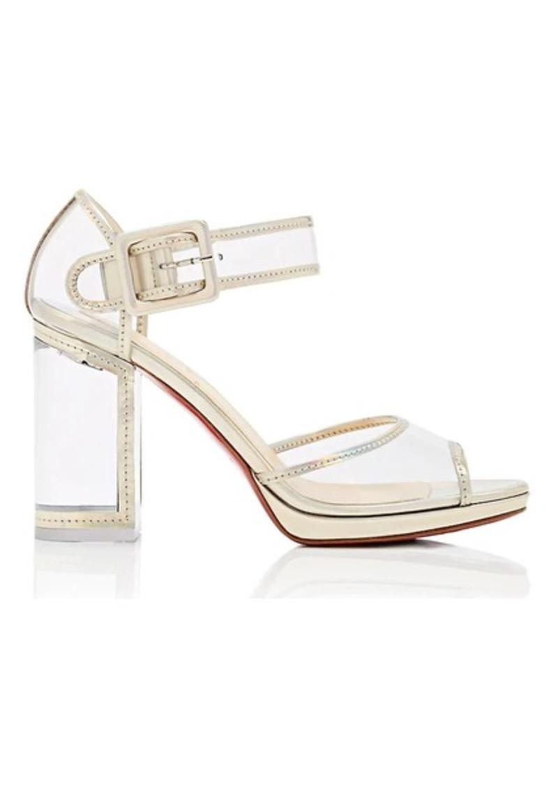 size 40 3f8c3 18968 Women's Barbaclara Specchio Leather & PVC Platform Sandals