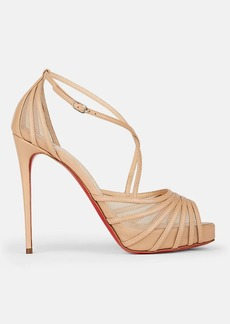 detailed look 908a1 5cb33 Christian Louboutin Women's Filamenta Leather & Mesh Platform Sandals