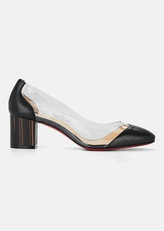 best service b37e2 8d32a Christian Louboutin Women's Grandola Leather & PVC Pumps