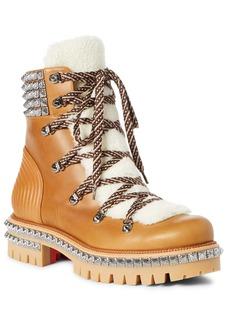 Christian Louboutin Yeti Genuine Shearling Hiking Boot (Men)