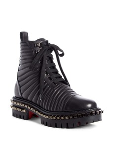 Christian Louboutin Yetota Quilted Combat Boot (Women)