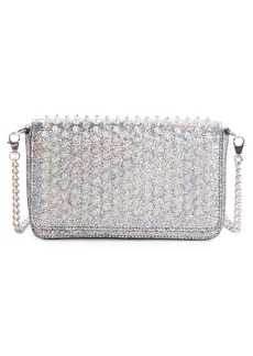 Christian Louboutin Zoompouch Crystal Embellished Leather Clutch