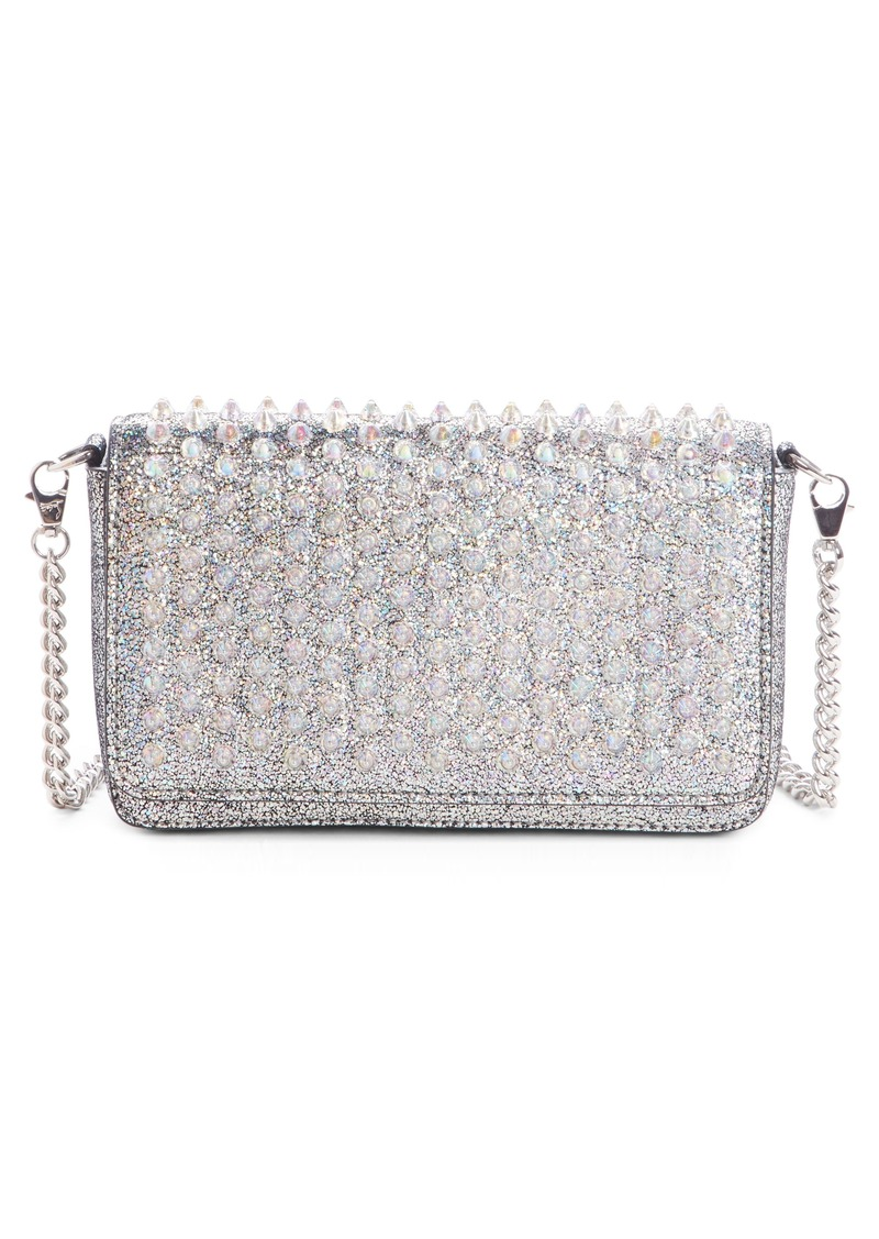 59d4e41911a Zoompouch Crystal Embellished Leather Clutch