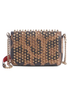 Christian Louboutin Zoompouch Leopard Print Leather Clutch