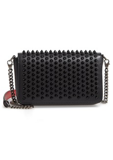 Christian Louboutin Zoompouch Spiked Leather Clutch