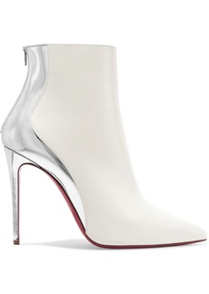 big sale 3da87 70bf1 Christian Louboutin Delicotte 100 Smooth And Mirrored-leather Ankle Boots