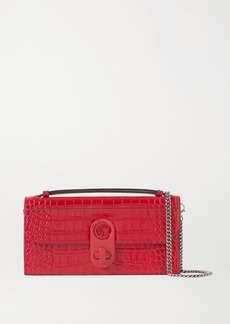 Christian Louboutin Elisa Croc-effect Leather Shoulder Bag