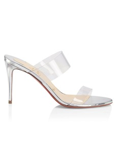 Christian Louboutin Just Nothing PVC & Metallic Leather Mules