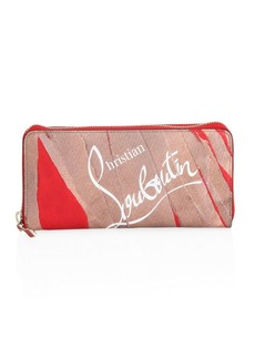 Christian Louboutin Kraft Loubi Panettone Leather Continental Wallet