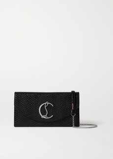 Christian Louboutin Loubi54 Lizard-effect Leather Clutch