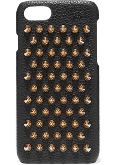 Christian Louboutin Loubiphone Embellished Textured-leather Iphone 7 And 8 Case
