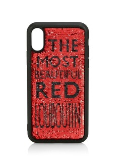 Christian Louboutin Loubisequins iPhone X/XS Case