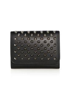 Christian Louboutin Macaron Mini Studded Leather Wallet