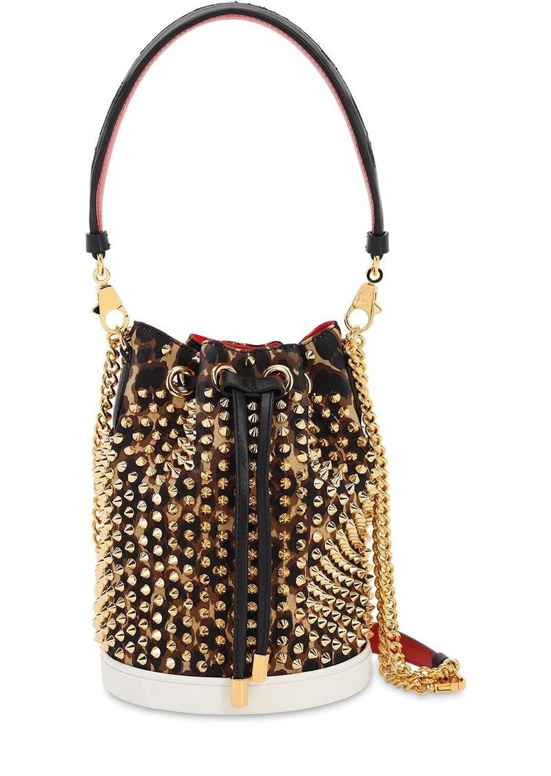 Christian Louboutin Mary Jane Studded Bucket Bag