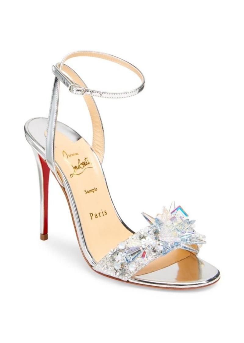 online store 88e81 9483d Okydok Lurex Metallic Leather Sandals