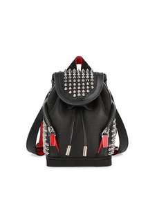 Christian Louboutin Mini Explorafunk Studded Leather Crossbody Backpack
