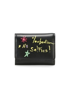 Christian Louboutin Mini Loubigaga Writing Leather Wallet