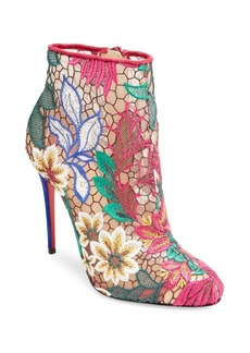 Christian Louboutin Miss Tennis Floral Mesh Booties