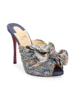 Christian Louboutin Moniquissima Silk Sandals